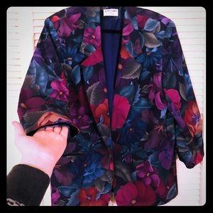 🏖NEW🏖VTG PLUS Alfred Dunner floral garden blazer